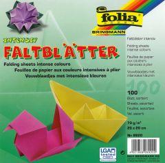 Origamiblaadjes 20 x 20 cm 100 stuks assortiment