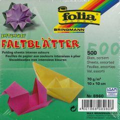 Origamiblaadjes 10 x 10 cm 500 stuks assortiment