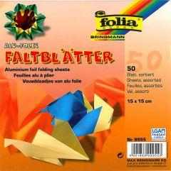 Origamiblaadjes 15 x 15 cm 50 stuks Metallic