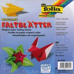 Origamiblaadjes 19 x 19 cm 96 stuks wit/gekleurd ass.