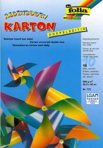 Regenboogkarton 200 g 22 x 32 cm 10 stuks