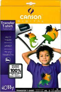 Canson T-shirttransfertpapier zwart A4, 5 stuks