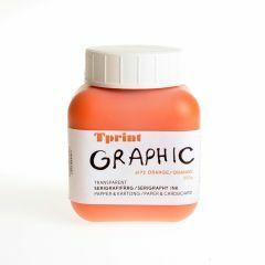 Zeefdrukinkt voor papier 250 g oranje