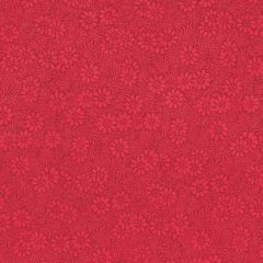 Lokta bedrukt bloemen klein 50 x 75 cm rood