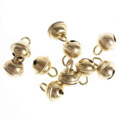 Belletjes 9 mm 10 stuks goudkleurig