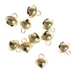 Belletjes 11 mm 10 stuks goudkleurig
