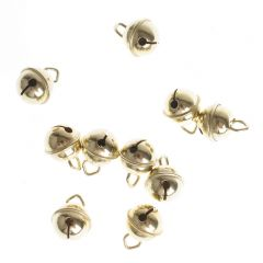 Belletjes 15 mm 10 stuks goudkleurig