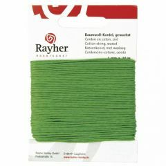Katoen waxkoord 1 mm 20 m groen