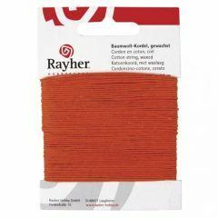Katoen waxkoord 1 mm 20 m oranje
