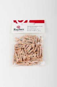 Houten wasknijpers 2,5 cm 48 stuks naturel