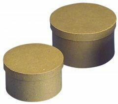 Kartonnen doos rond 16,5 x 9,5 cm