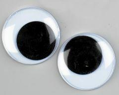 Wiebeloogjes 10 stuks 30 mm zwart-wit