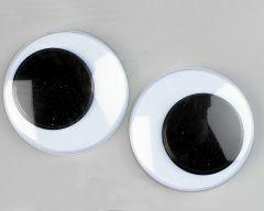 Wiebeloogjes 6 stuks 40 mm zwart-wit