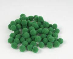 Pompon 7 mm 70 stuks groen