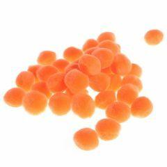 Pompon 15 mm 60 stuks oranje