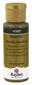 Metallic verf 59 ml briljant goud