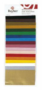 Wasfolie 10 x 5 cm/18 kleuren