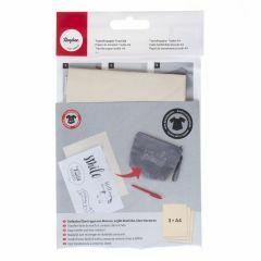 Transferpapier voor textiel A4, 3 stuks wit