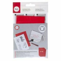 Transferpapier voor textiel A4, 3 stuks rood