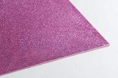 Crepla gummivel 30 x 45 cm 2 mm glitter roze