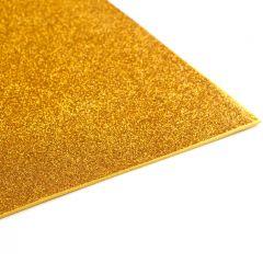 Crepla gummivel 30 x 45 cm 2 mm glitter goud