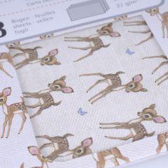 DecoMachépapier 26 x 37,5 cm 3 stuks bambi