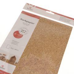 Kurk papier zelfklevend 20,5 x 28 cm granulaat