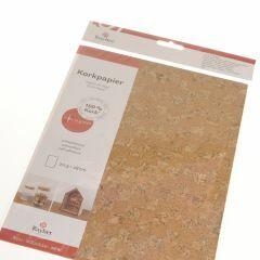 Kurk papier zelfklevend 20,5 x 28 cm mozaïek