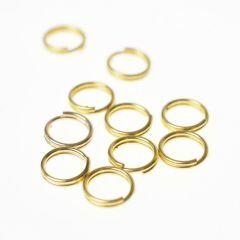 Splitring 7 mm 10 stuks goud