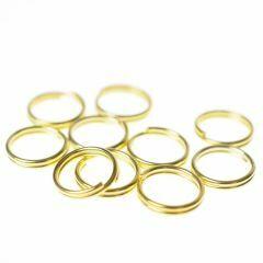 Splitring 9 mm 10 stuks goud