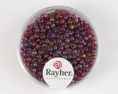 Glasparel 2,6 mm 17 g wijnrood transparant lustré