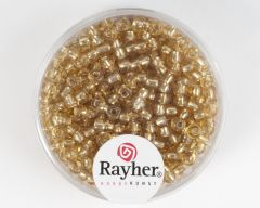 Glasparel 2,6 mm 17 g goud met zilverkern