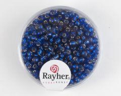 Glasparel 2,6 mm 17 g donkerblauw met zilverkern