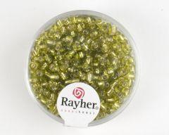 Glasparel 2,6 mm 17 g lichtgroen met zilverkern