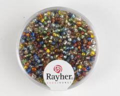 Glasparel 2 mm assortiment zilverkern 17 g