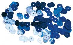 Pailletten 6 mm glad 1000 stuks donkerblauw