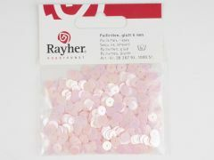 Pailletten 6 mm glad 1000 stuks iris. roze