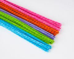 Chenille 9 mm/30 cm 25 stuks assortiment candy