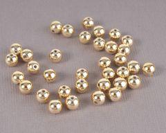 Parel 6 mm 35 stuks goud