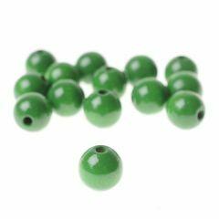 Houten parels 12 mm 32 stuks meigroen
