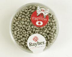 Glasparel papillon 2 x 4 mm 18 g zilver