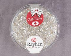 Glasparel papillon 2 x 4 mm 18 g bergkristal