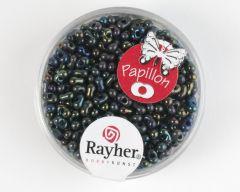 Glasparel papillon 2 x 4 mm 18 g smaragd