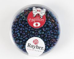 Glasparel papillon 2 x 4 mm 18 g saffier