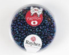 Glasparel papillon 2 x 4 mm 18 g saffier