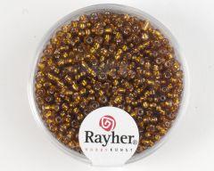 Glasparel 2 mm 17 g donkerbruin met zilverkern