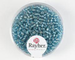 Glasparel 2 mm 17 g turkoois met zilverkern