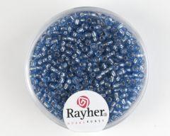 Glasparel 2 mm 17 g lichtblauw met zilverkern