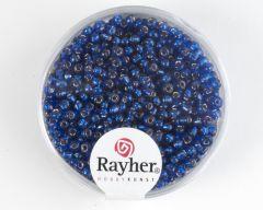 Glasparel 2 mm 17 g donkerblauw met zilverkern
