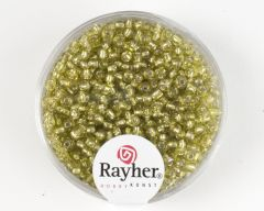 Glasparel 2 mm 17 g lichtgroen met zilverkern